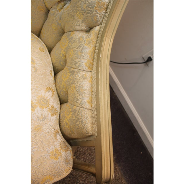 Louis XV French Bergere Tufted Back Chair - Image 8 of 11