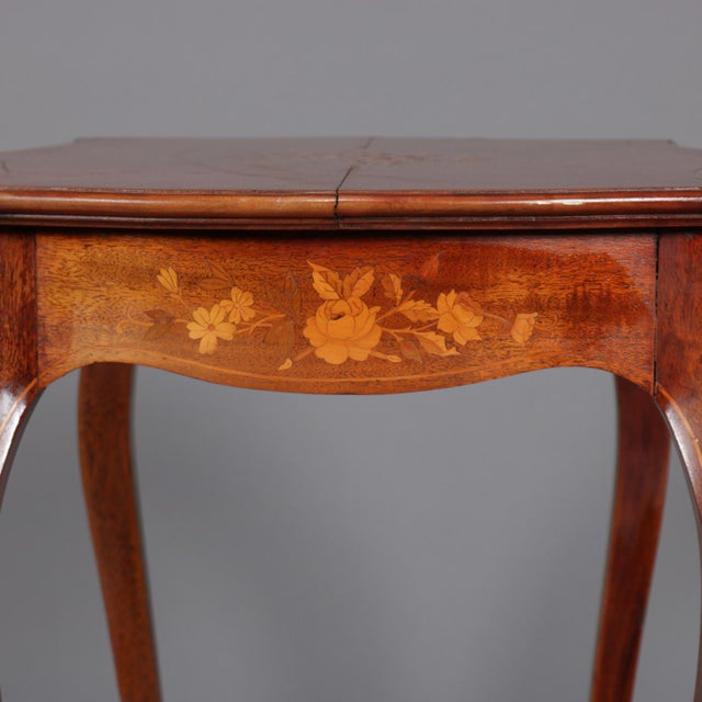 1900s French Marquetry, Mahogany With Satinwood Inlay For Sale - Image 9 of 13