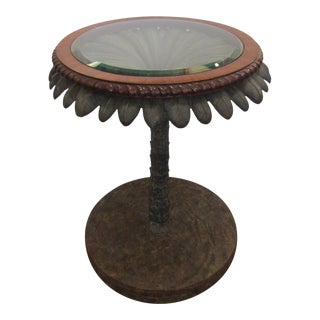 Traditional Maitland-Smith Palm Tree Table For Sale