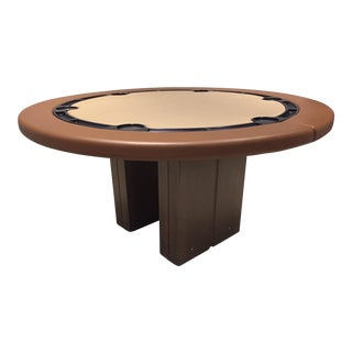 Leather Poker or Game Table For Sale