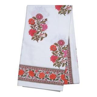 Sanya Tablecloth, 6-seat table - Pink & Orange For Sale