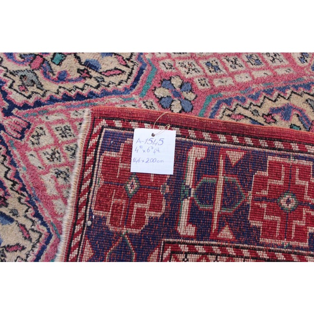 Vintage Turkish Oushak Rug - 3′1″ × 6′5″ For Sale - Image 9 of 10