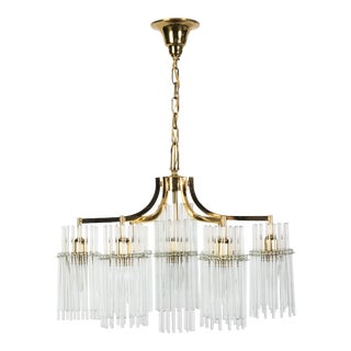 Exceptional Crystal Chandelier Pendant By Palwa For Sale