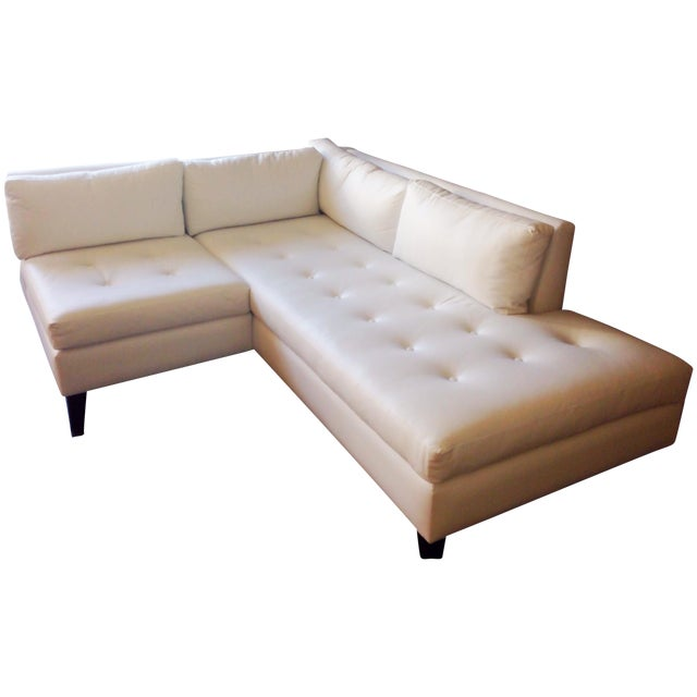 Modern White Faux Leather L-Shaped Sofa - Image 1 of 6