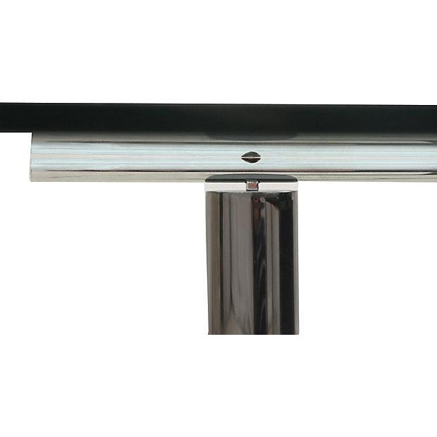 Modernist Glass & Chrome Coffee Table - Image 5 of 6