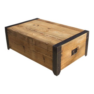 Wisteria Slide-Top Recycled Pine Trunk Coffee Table For Sale
