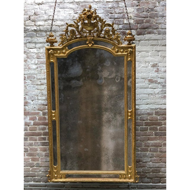 Glass Pareclose 19th Century Mirror For Sale - Image 7 of 7