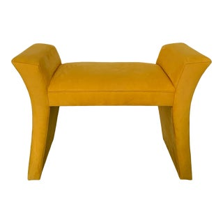 Shlomi Haziza Modern Sitting Saddle Bench in Horseradish For Sale
