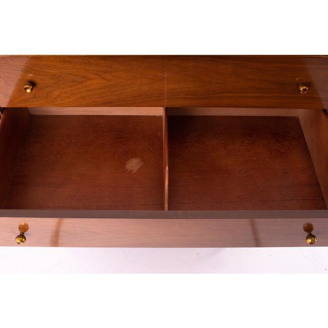 "Kent Coffey ""The Continental"" Mid Century Walnut Highboy Dresser For Sale - Image 9 of 12"