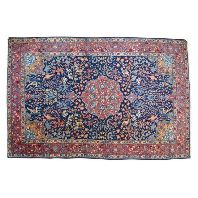 "Vintage Persian Sarouk Rug - 6'10"" X 11' - Image 1 of 10"