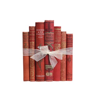 Antique Scarlet Book Gift Set For Sale