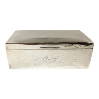 Antique Birmingham England Art Deco Sterling Silver Box For Sale
