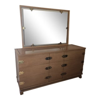 1950s Vintage Kent Coffey Dresser & Mirror - 2 Pieces For Sale