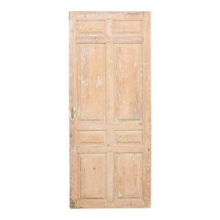 19th Century French Eight-Panel Door With Natural Pale Wood Finish For Sale