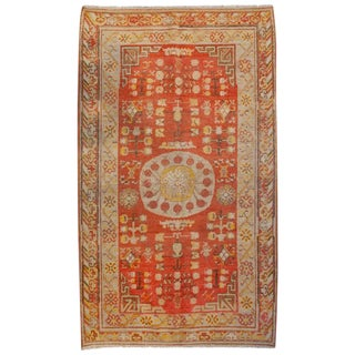 Early 20th Century Central Asian Khotan Rug - 4′ × 7′9″ For Sale