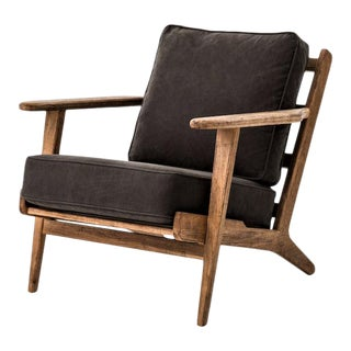 Baxter Blonde Lounge Chair For Sale