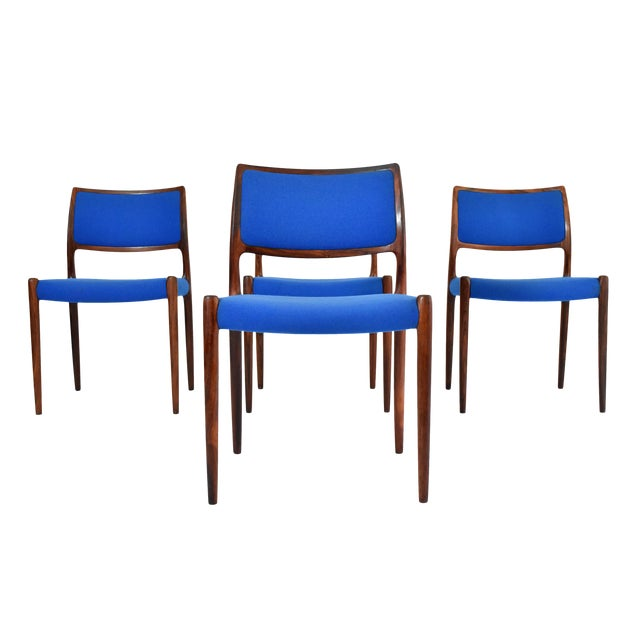 Danish Modern Niels Moller #80 Rosewood Dining Chairs - Set of 4 - Image 1 of 10