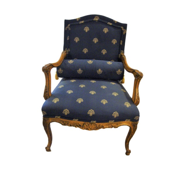 Custom Louis XV Style Arm Chairs- A Pair - Image 2 of 8