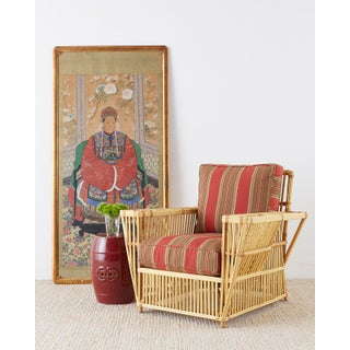 Bielecky Stick Wicker Rattan President Lounge Chairs - a Pair Preview