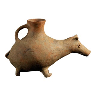 Terracotta Aquamanile With Zoomorphic Spout For Sale