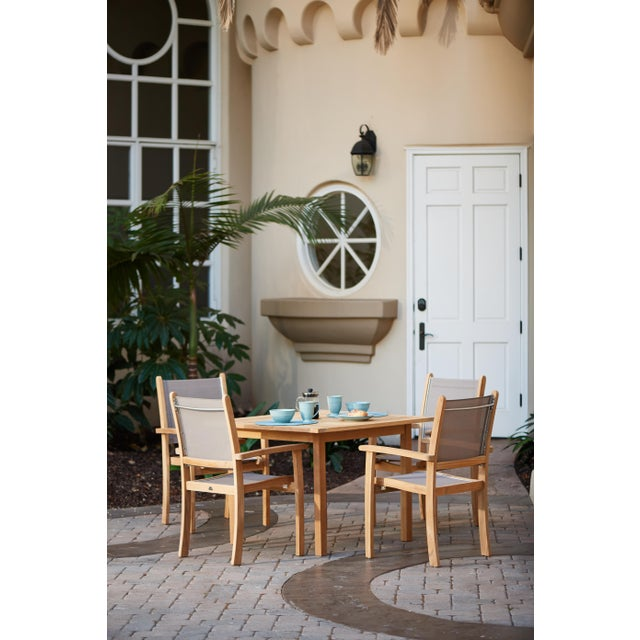 Contemporary Birmingham Square Teak Outdoor Dining Table For Sale - Image 3 of 5