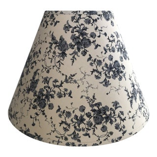 Blue and White Floral Fabric Lampshade For Sale