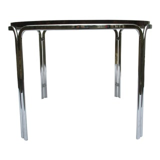 1970s Italian Chrome Dining or Gaming Table For Sale