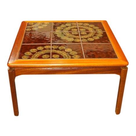 Teak & Tile Coffee Table C.1970 - Image 1 of 8