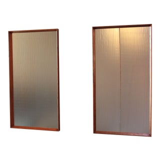 Pair of Danish Teak Wall Mirrors by Pedersen & Hansen