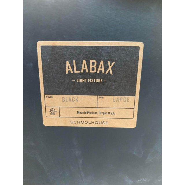 Mid-Century Modern Mid-Century Modern Black Ceramic Alabax Fixture For Sale - Image 3 of 4