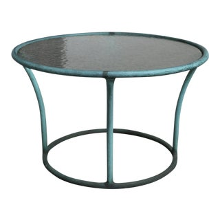 Mid-Century Modern Kipp Stewart for Terra Bronze and Pebble Glass Side Table