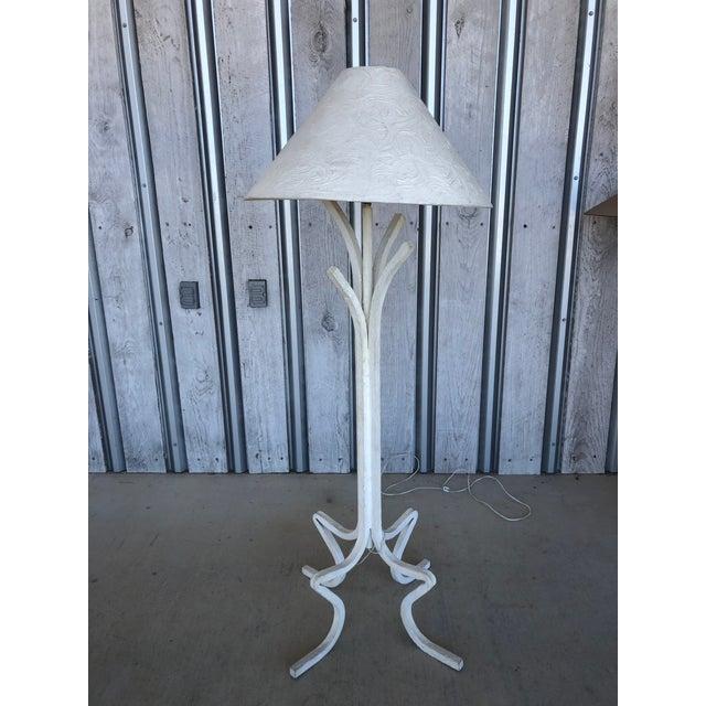 1980's Plaster Floor Lamp For Sale - Image 6 of 6