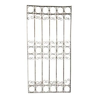 Antique Victorian Iron Gate Window Garden Fence Architectural Salvage Door #347 For Sale
