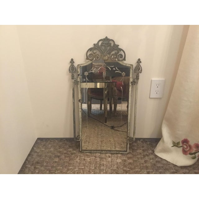 1940s Vintage Metal Iron Mirror For Sale In Los Angeles - Image 6 of 7