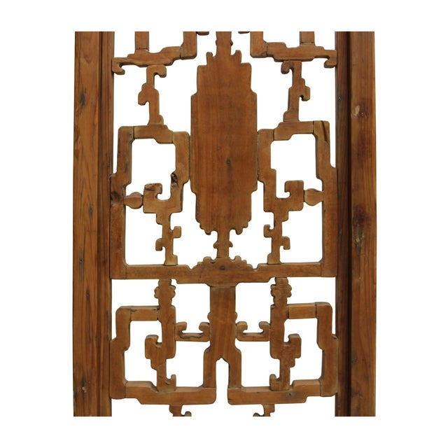 Chinese Vintage Light Brown Relief Motif Wood Wall Hanging Art For Sale In San Francisco - Image 6 of 11