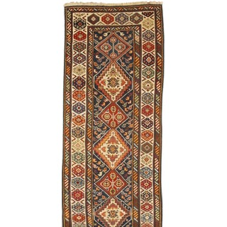 Antique 19th Century Caucasian Kuba Runner For Sale
