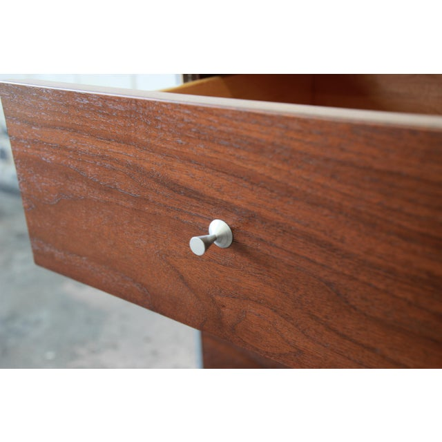 Paul McCobb Area Plan Units Mid-Century Modern Walnut Low Credenza For Sale - Image 12 of 14