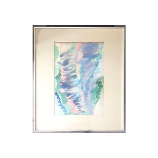 M.Bevington Lake Reflections Watercolor For Sale