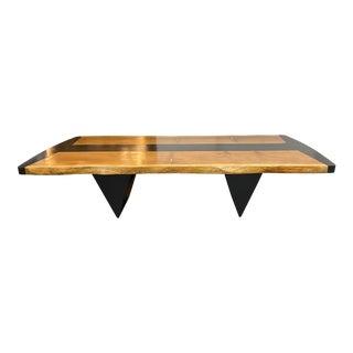 Custom Design Post Modern Live Edge Redwood Table For Sale