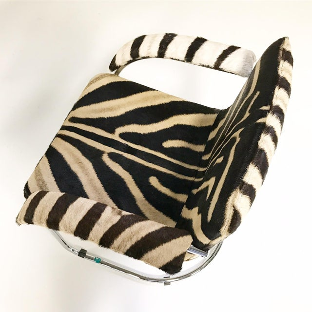 Giovanni Offredi for Saporiti Lens Chairs in Zebra - Set of 8 - Image 6 of 11