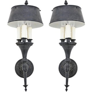 1950s Tole Sconces - a Pair For Sale