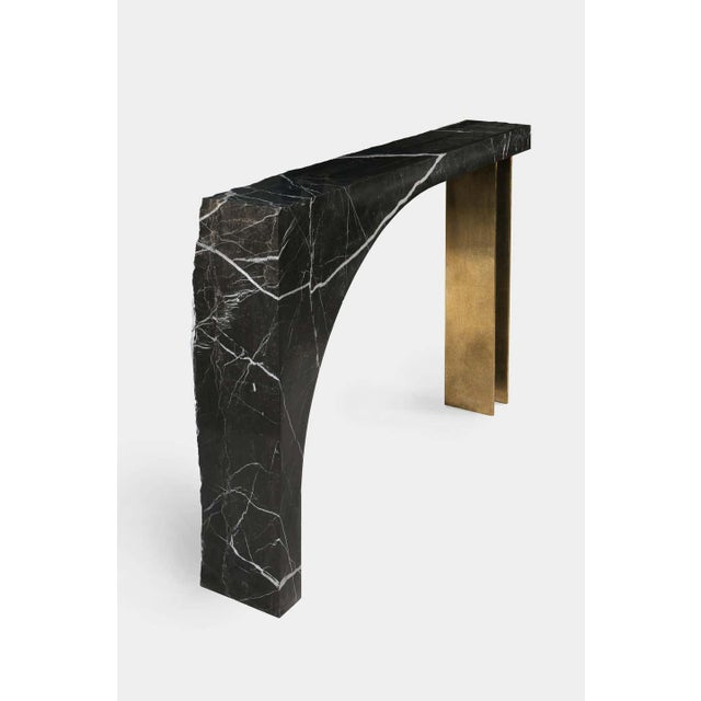 Contemporary Found II Console Table No.2 in Black Marble by a Space For Sale - Image 3 of 5