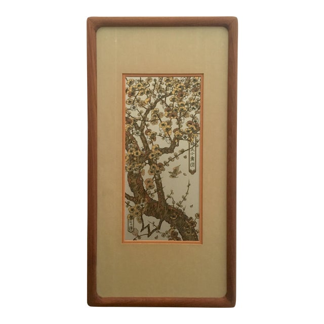 Vintage Japanese Silver Etching Wall Art For Sale