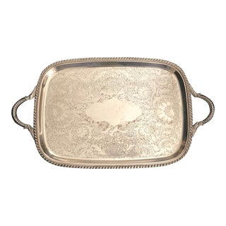Vintage Sheffield Silver Co. Serving Tray W/Handles For Sale