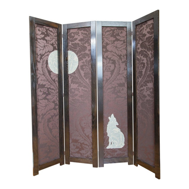 'Wolf Angst' Deep Purple Room Divider For Sale