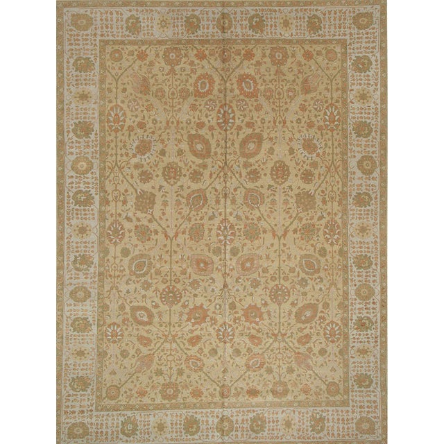 Country Room Size Modern Turkish Persian Tabriz DesignR ug - 9′11″ × 13′3″ For Sale - Image 3 of 3