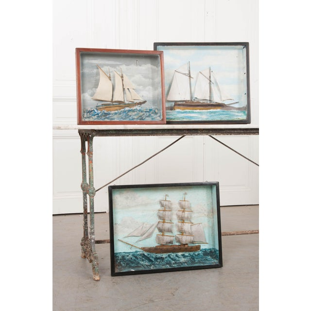 English 19th Century Nautical Diorama For Sale In Baton Rouge - Image 6 of 7