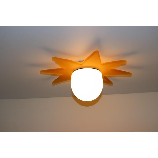 Late 20th Century 1980 Mid-Century Modern Murano Glass Ceiling Lamp For Sale - Image 5 of 7