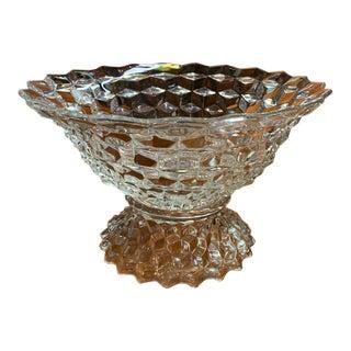 Antique Fostoria Crystal Bowl on Base For Sale
