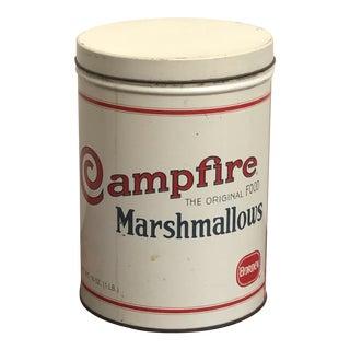 Vintage Borden Campfire Marshmallows Advertising 16 Oz Tin Replica 1920s For Sale